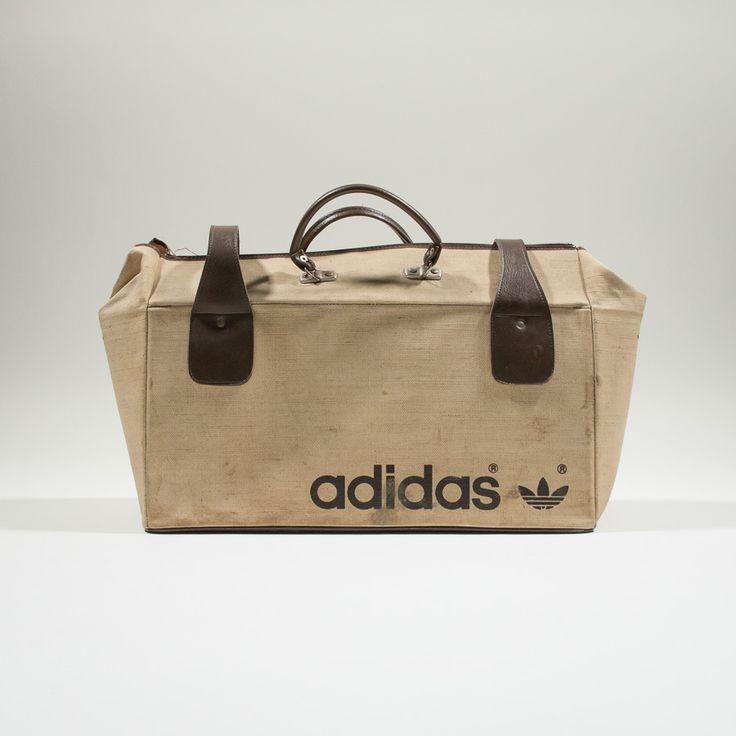 ✦ CLICK TO BUY ✦ ADIDAS - Jute 70s duffel bag - Borsone anni '70 in juta - Millesimè Vintage Clothing & accessories
