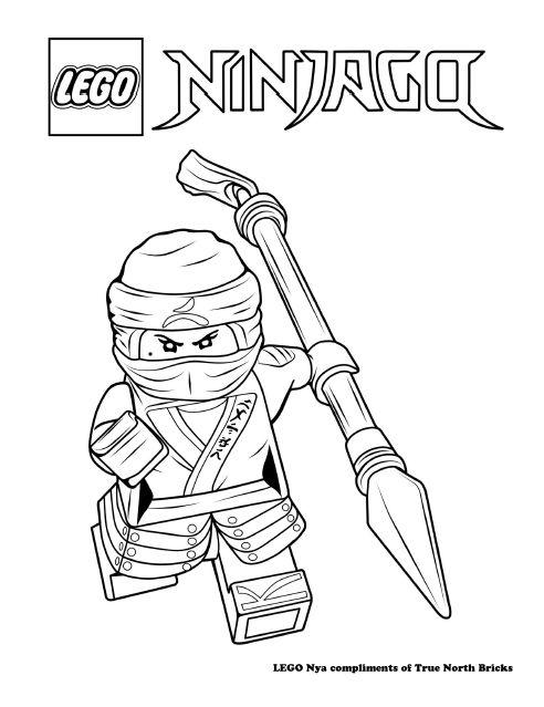 Coloring Page Ninja Nya Ninjago Coloring Pages Lego Coloring