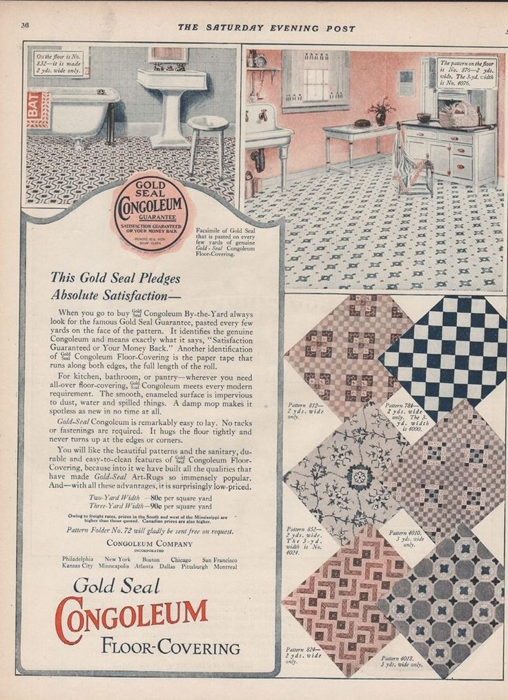 332 best linoleum love images on pinterest vintage for Linoleum floor covering