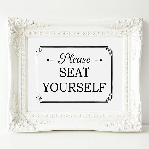 Bathroom Art Please Seat Yourself Wall Art Funny By Orchardberry