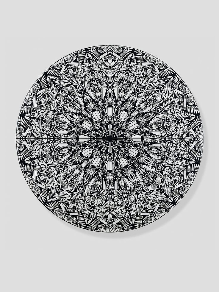 """Damien Hirst """"Concertina"""" from his scalpel blade paintings"""