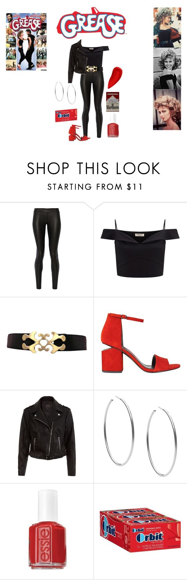 """""""Bad Sandy Grease Outfit"""" by geecat on Polyvore featuring The Row, Lipsy, Alexander Wang, New Look, Michael Kors, Essie and Lipstick Queen"""