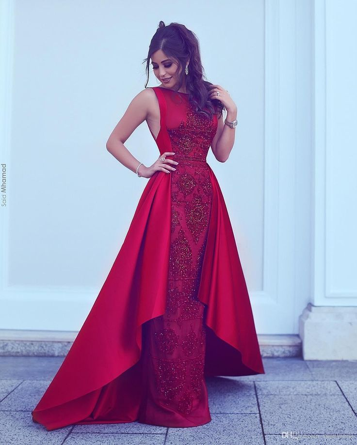 Rote Abendkleid Lang Günstig A Line Spitze Abendkleider ...
