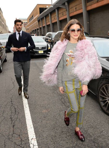 Johannes Huebl and wife Olivia Palermo are seen in SoHo on February 12 2018 in New York City