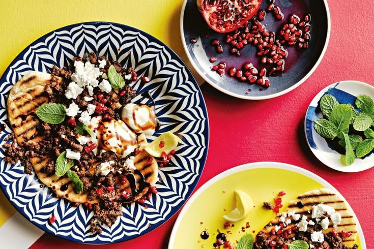 Middle-Eastern lamb flatbreads