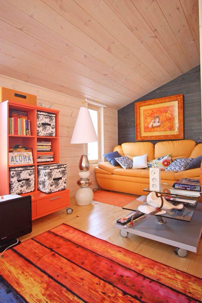 Interior of orange DublDom