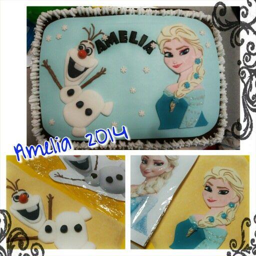 Un compleanno tra i ghiacci per Amelia - Frozen Birthday cake