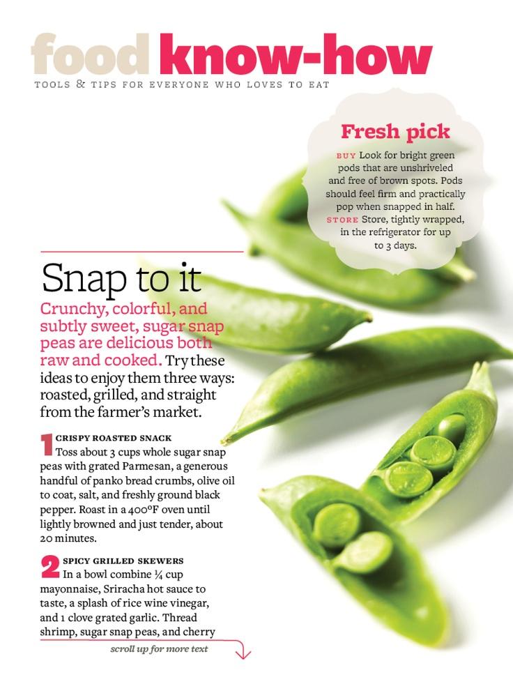 Baked Snap Peas | Healthy Eats | Pinterest