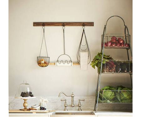 Kitchen wall storage rack hook rack organiser wall for Pictures suitable for kitchen walls
