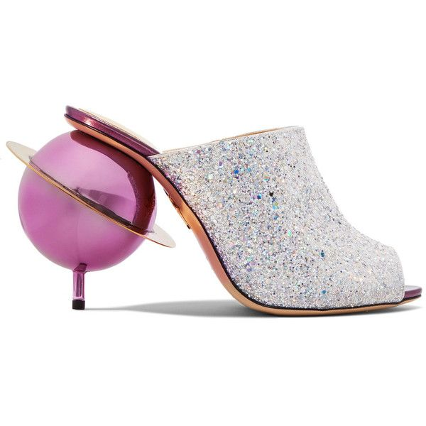 Charlotte Olympia Miss Universe glitter-finished canvas sandals