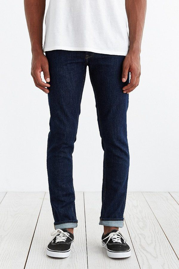 $99, Navy Skinny Jeans: Dr. Denim Clark 1991 Dark Skinny Jean. Sold by Urban Outfitters. Click for more info: https://lookastic.com/men/shop_items/183080/redirect