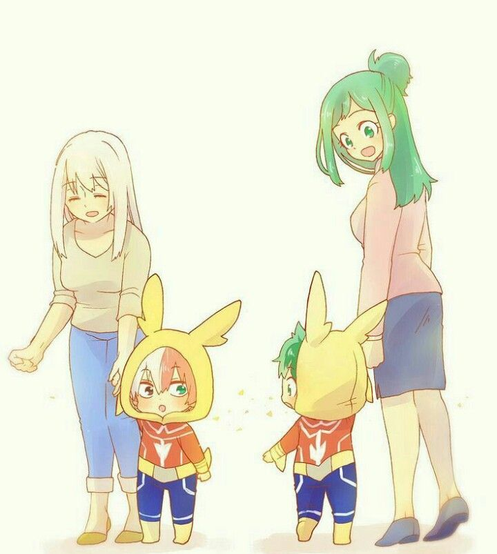 All Might and inko mother x father Midoriya izuku and toshinori