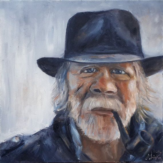 *TITLE: Old Man  *SIZE: 40 cm x 40 cm.  *HAND-PAINTED: All paintings in the…