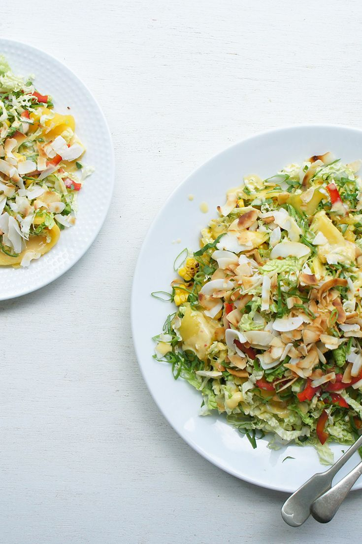 We love this this Summer Coleslaw with Chilli Mango Dressing by BeadDivine.