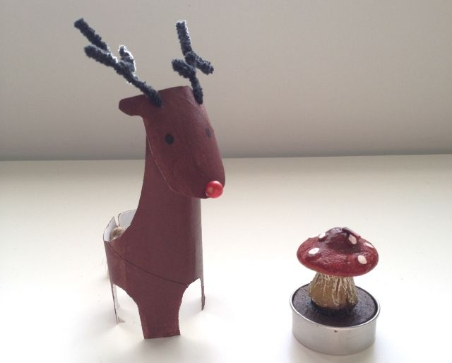 Craft Advent: Day 7: Cardboard Tube Reindeer |Where Wishes Come From