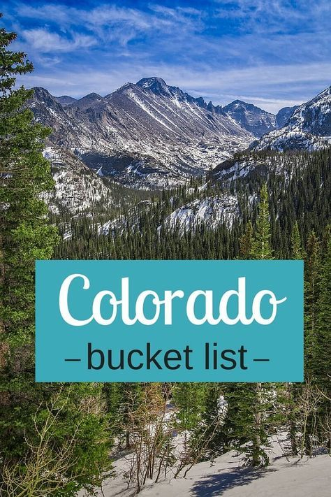 Help us create our things to do in Colorado bucket list? Where should we go? What should we do? Share on our blog!