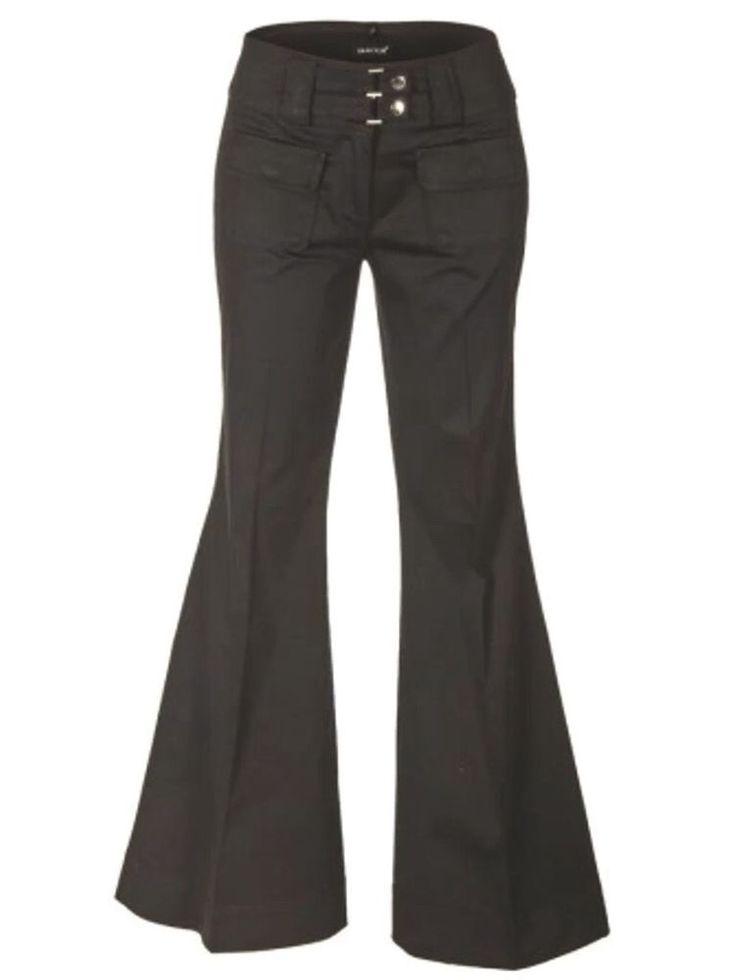 Stretch - Hose / Stretchhose Laura Scott mit Breiten Bund in schwarz Größe 32 | eBay