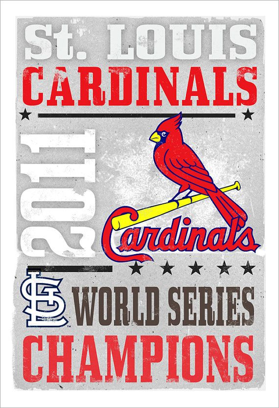 St Louis Cardinals 2011 World Series Champs print by aswegoArts, $21.50