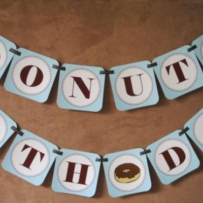 """Donuts With Dad"" Printable Banner – Tip Junkie Printables"