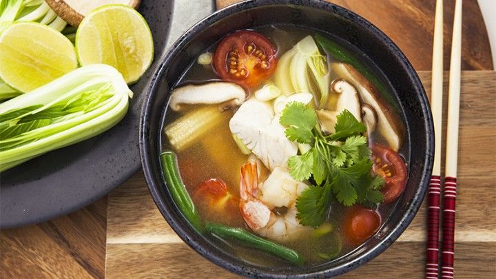 Seafood Tom Yum Recipe from Everyday Gourmet with Justine Schofield