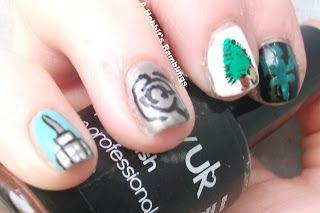 A Hobbit's Ramblings: Percy Jackson nail art