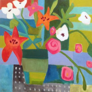 "Annie O'Brien Gonzales-Contemporary Expressionist Artist-Contemporary Abstract Still Life Flower Art Painting ""Stay Together"" by Santa Fe Artist Annie O'Brien Gonzales-http://annieobriengonzalespaintings.blogspot.com/2015/01/contemporary-abstract-still-life-flower_14.html"