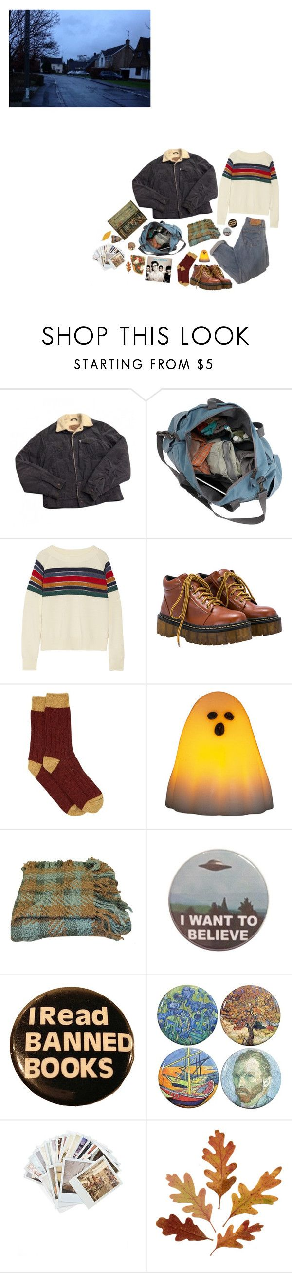 """""""Autumn"""" by nannva ❤ liked on Polyvore featuring Levi's, Band of Outsiders, Howlin', Woven Workz and Chronicle Books"""