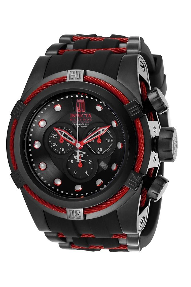 051a9b4a2 Invicta Jason Taylor Mens Quartz 53mm Black, Red Case Black Dial - Model  25230 in 2019 | THE BLACK N RED EFFECT | Mens watches leather, Chronograph,  ...