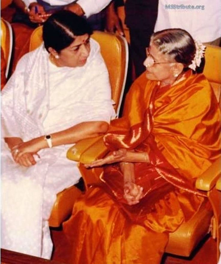 The two all time icons of Indian tradition - Lata Mangeshkar and M Subbalakshmi …