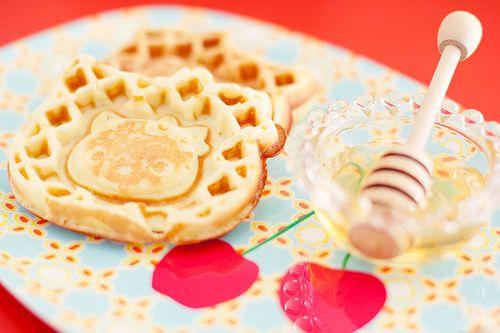 Hello Kitty Waffles <3: Waffles Toooo, Food Drinks Desserts, Food Awesome, Hello Kitty 3, Food Desserts Drinks, Hello Putty, Yummy, Daughters, Kitty Waffles Um