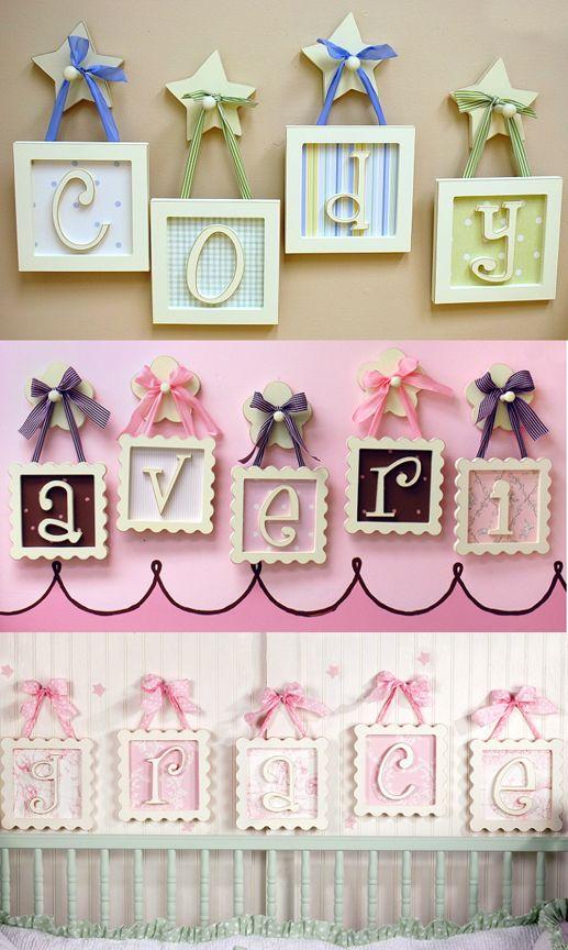 Framed Wooden Letters
