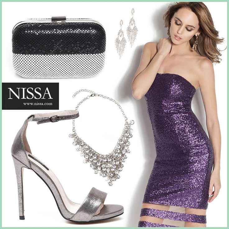 www.nissa.com  #nissa #glam #paiete #rochie #revelion #style #stylish #petrecere #look #outfit #club #sandale #colier #plic #clutch #heels #necklace #cercei #earrings