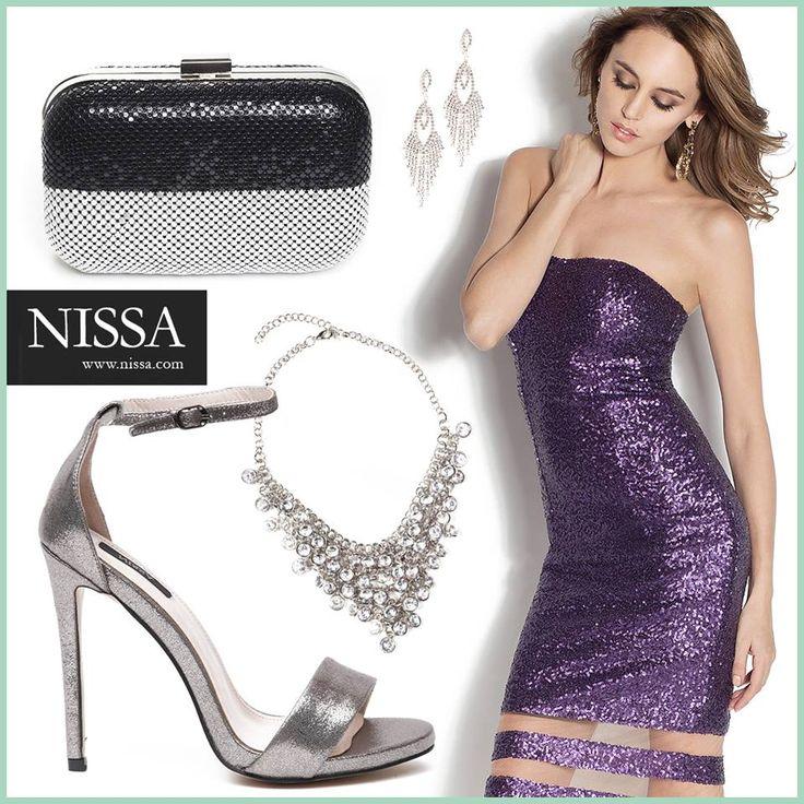 www.nissa.com  #nissa #glam #paiete #rochie #revelion #style #stylish #petrecere #look #outfit #club #sandale #colier #plic #clutch #heels #necklace #cercei #earrings