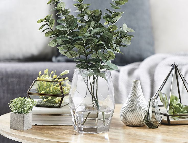 FRACTURE VASE TALL  - CLEAR