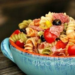 Antipasto Pasta Salad with home made pasta