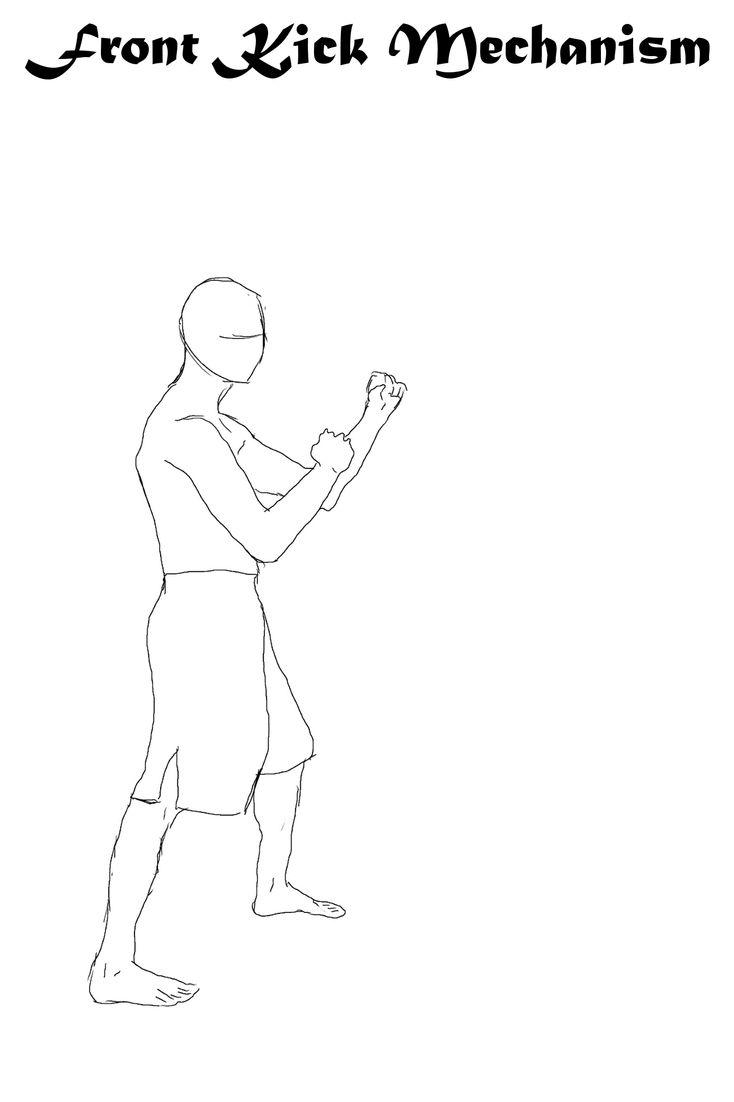 animated front kick movement mechanism @ 200ms