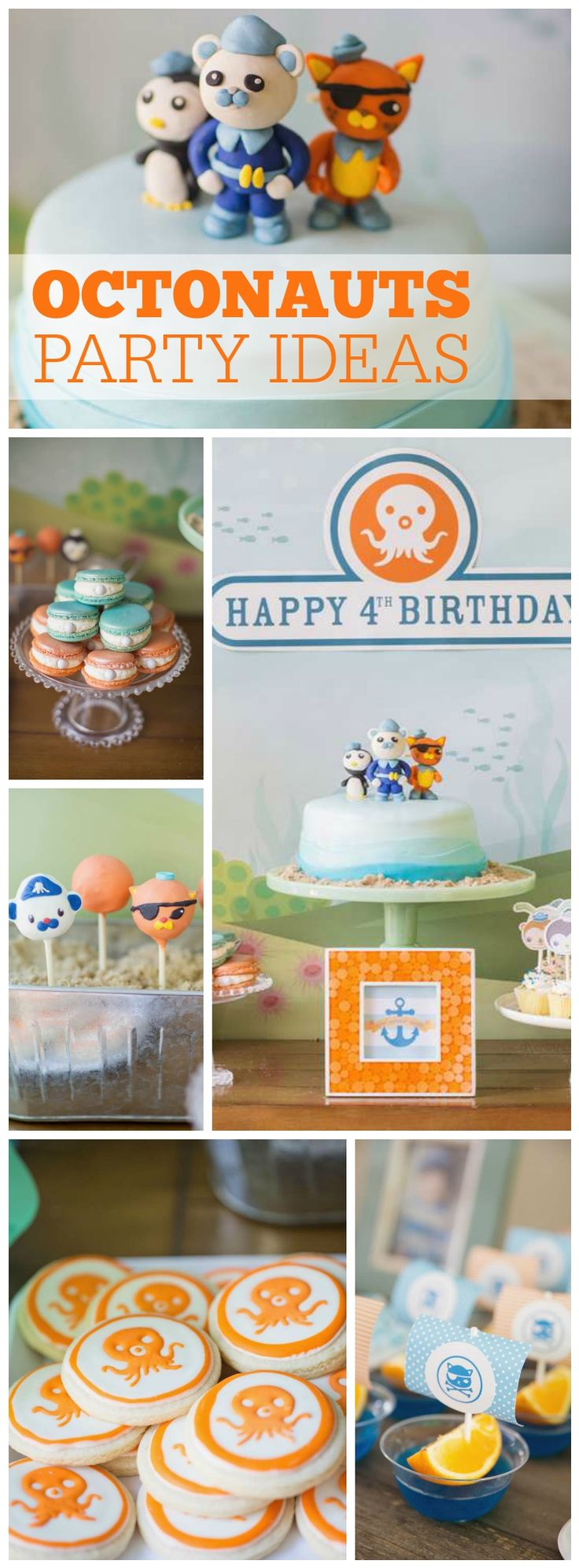 How great is this Octonauts birthday party! See more party ideas at CatchMyParty.com!