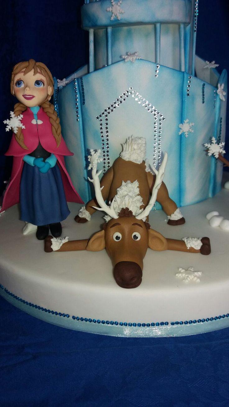 Anna and SvenFrozen cake