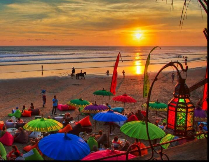 Beautiful Bali sunset