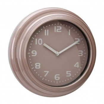 WM Widdop Rose Pink Wall Clock. Product Detail:      -Rose Pink Wall Clock       -Arabic Dial       -Dimensions: H:29, W:29, D:8 cm  £10.00
