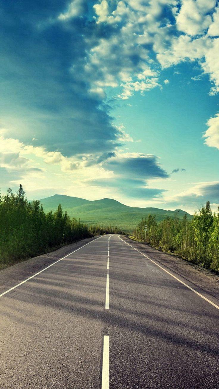 Sunshine Road Mountain View iPhone 6 wallpaper