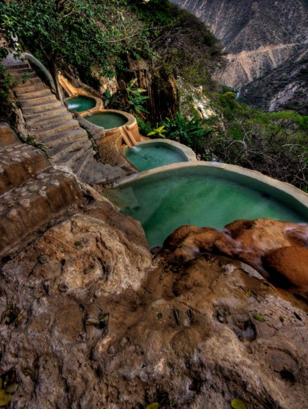 Tolantongo Canyon and Resort in Mexico ----------------------------------------------------- Tolantongo is a resort and box canyon located 17 kilometres from Ixmiquilpan in the Mezquital Valley, State of Hidalgo in #Mexico.  #travel