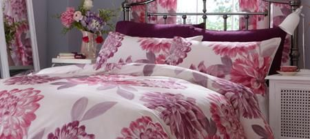 Our Plum Lucy Bedding #dunelm #radiantorchid #pantone #bedding