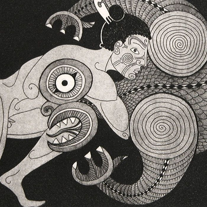 Maui wrestles the Taniwha | | PG gallery 192
