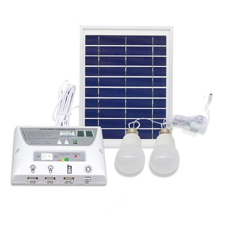 $99.95 FREE Shipping  4.5W Solar Panel 5000mah Battery Mobile Solar Power LED Light Bulb Lamp Solar Home Lighting System Emergency Lighting
