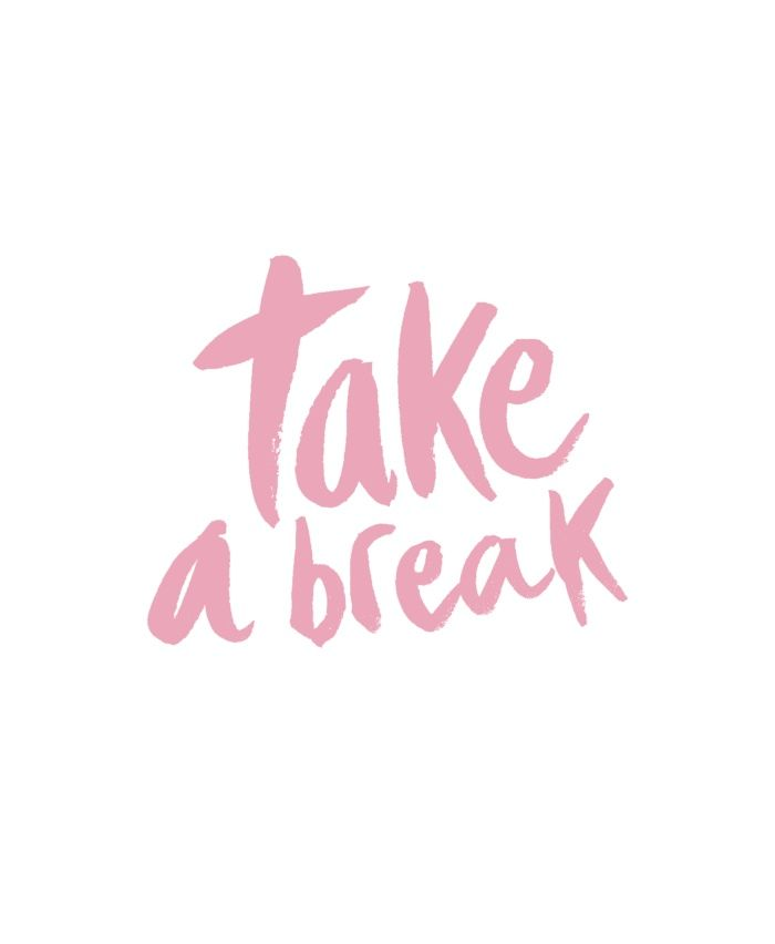 take a break - Pink Art Print