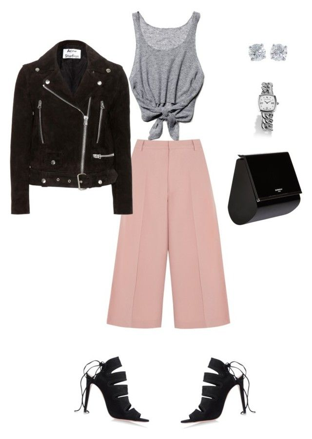 Pastel Culottes by kitamode on Polyvore featuring Free People, Acne Studios, RED Valentino, Aquazzura, Givenchy, David Yurman and Tiffany & Co.