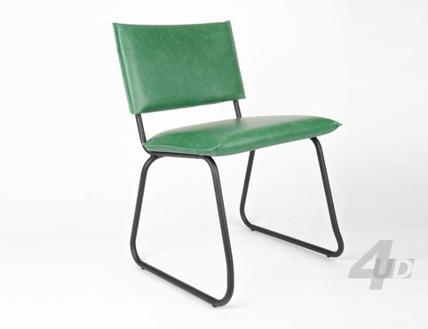 Eetkamerstoel Wham Vintage Groen - Eetkamerstoelen - Zitmeubilair