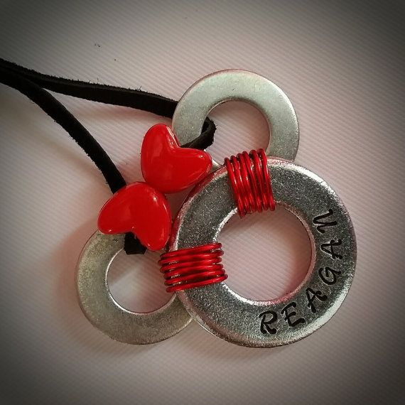 Personalized Mickey Washer Necklace by sparkleblingpop on Etsy