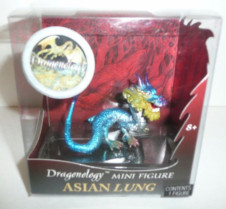 Dragonology Mini Figure Asian Lung by Sababa Toys Dragon Draco Oriental Fantasy #SababaToys